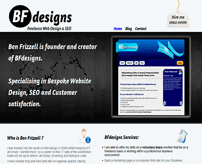 BFdesigns Website